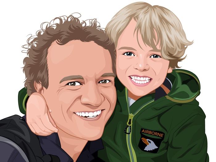 20160721 Marcus en pappa cartoon